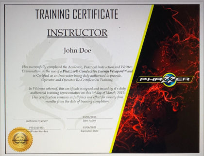 0000433 in house new instructor training certification