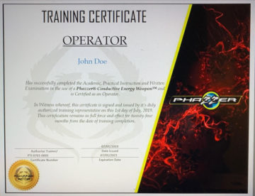 0000434 in house new operator training certification