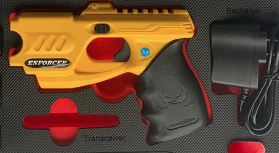The PhaZZer® Enforcer basic set, a police grade CEW (yellow color).